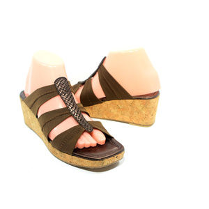 DONALD J. PLINER Clare Nylon Strappy Cork Wedge